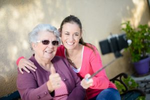 Take a selfie with grandma #seniorcitizensday