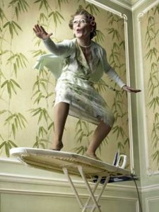 Surfing the ironing board