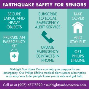 Earthquake tips for Seniors - Alaska