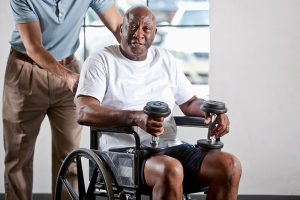 disabled senior stays active post-pandemic